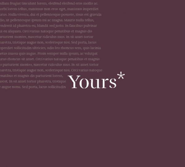 Libro su misura YOURS