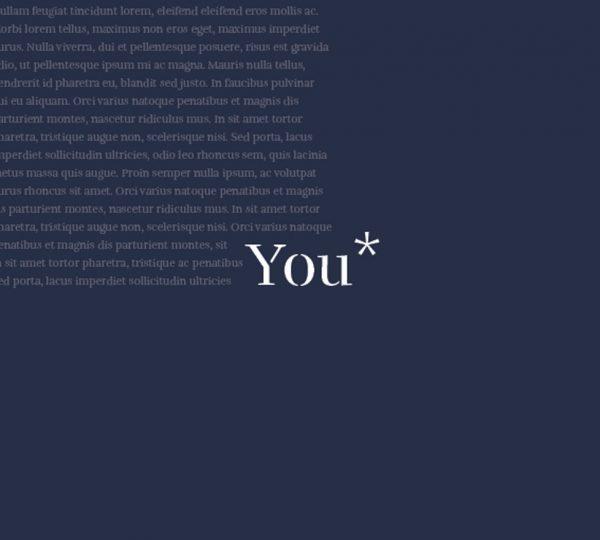 Libro su misura YOU